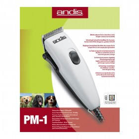 Машинка для стрижки Andis PM-1 12-Piece Adjustable Blade Pet Clipper Kit - White